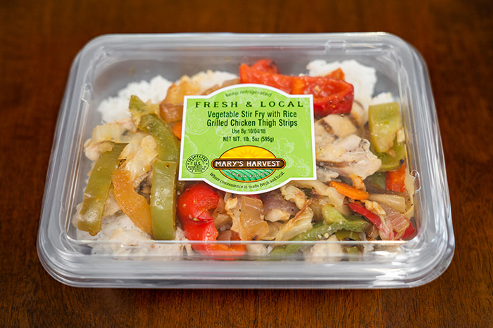 Vegetable Stir Fry with Rice Grilled Chicken Thigh Strips