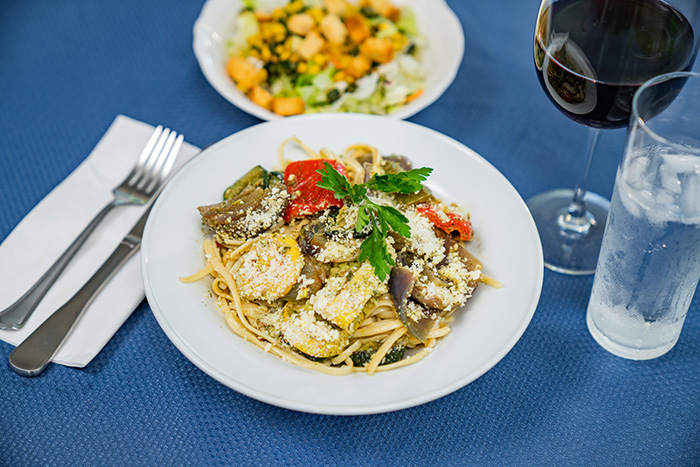 Roasted Pasta Primavera with Linquine
